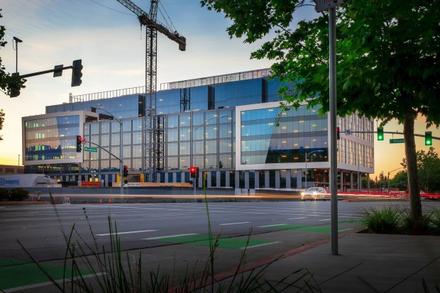 Modern office building next to San Jose's Santana Row is completed, ready for tenants 4