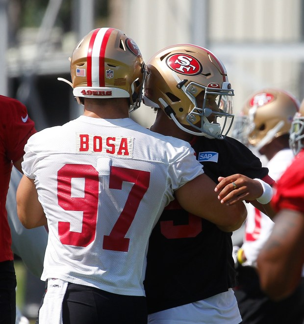 49ers' Nick Bosa undecided on COVID vaccine, on track to play in season opener after ACL tear 3