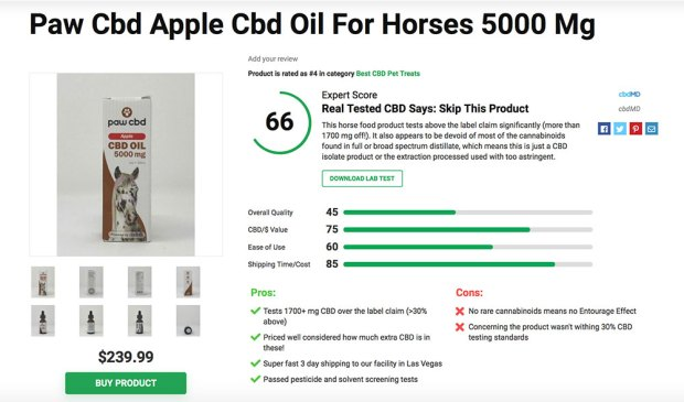 Paw CBD Apple Oil for Horses