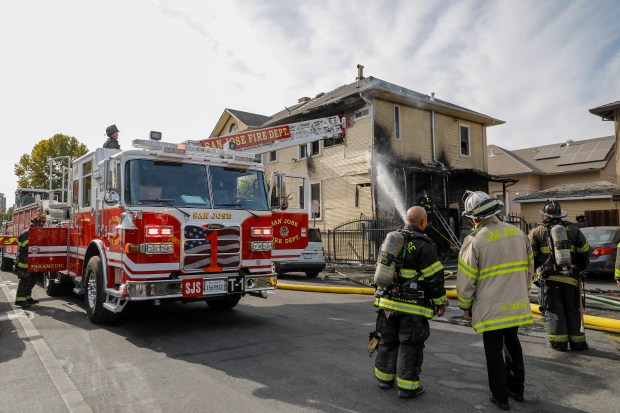 San Jose: Downtown apartment house fire displaces 8 residents