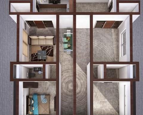 1bedroom bungalow plan