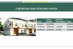 Summer Bargain 5 bedroom semi detached plus BQ @ N28million only