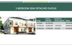 Summer Bargain 5 bedroom semi detached plus BQ @ N28million only
