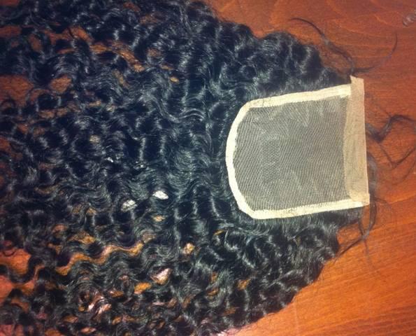 Virgin Mongolian Loose Curly Lace Closure Natural Hair
