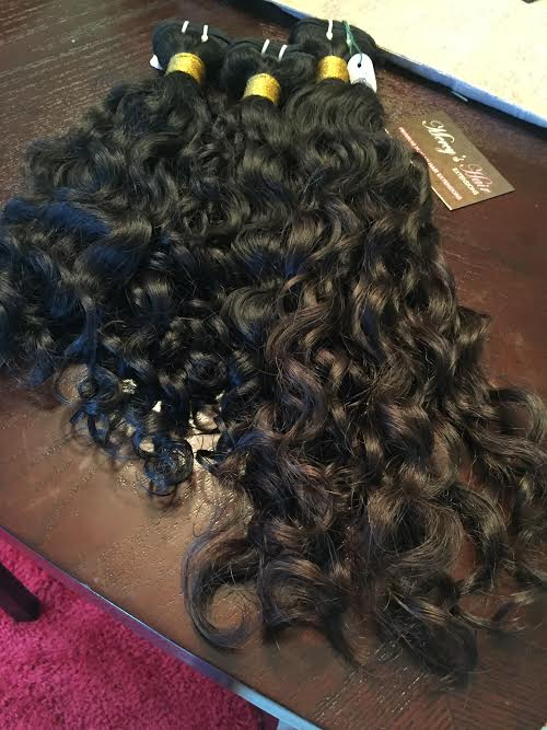 Raw Indian WavyCurly Hair Natural Hair Extensions