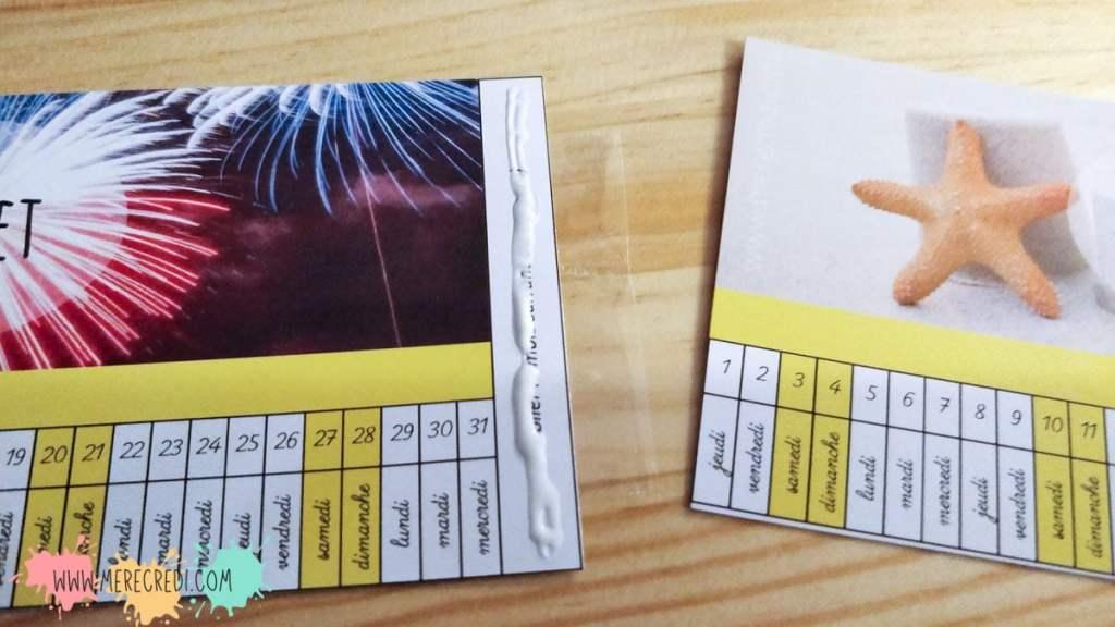 assembler la poutre du temps calendrier enfant