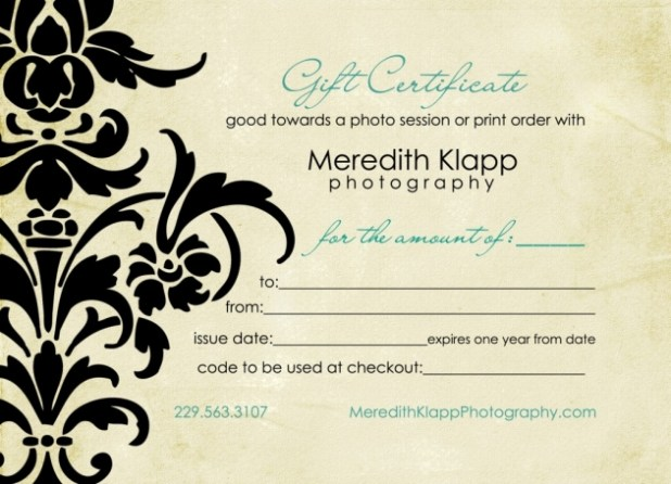 printable photography gift certificate template gallery - Free Printable Photography Gift Certificate Template
