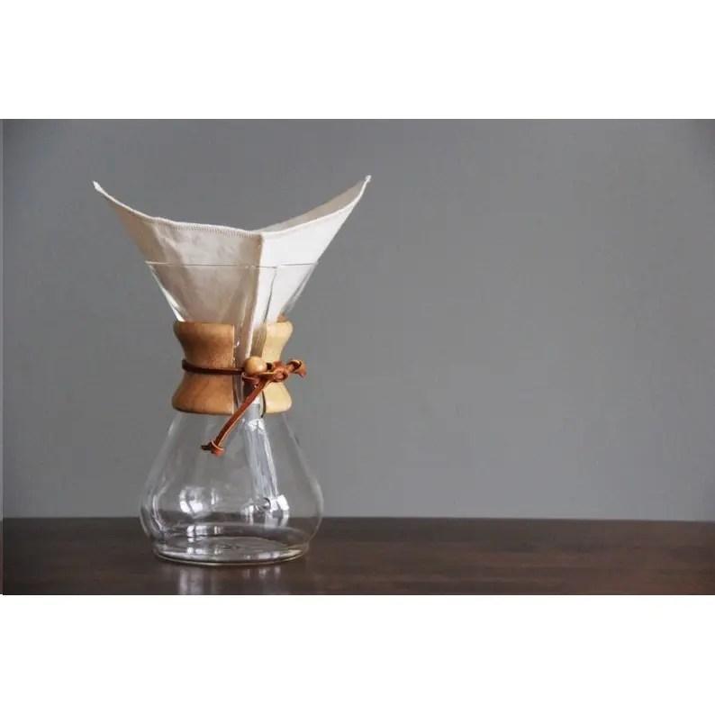 filtre a cafe de style chemex