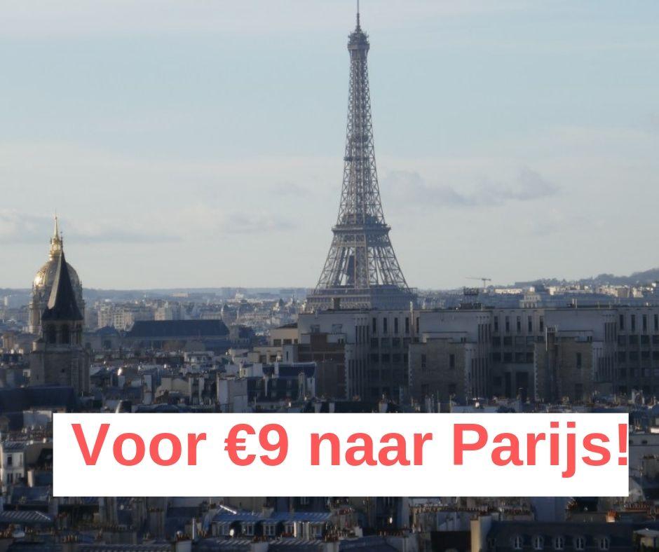 Voor €9 naar Parijs