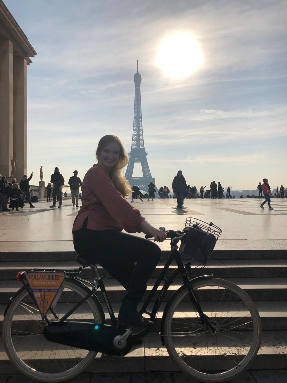 Eiffeltoren en fiets