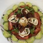 Makkelijke geitenkaas salade