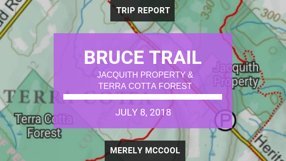Bruce Trail: Jacquith Property and Terra Cotta Forest