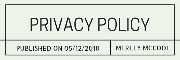 Privacy Policy - Merely McCool