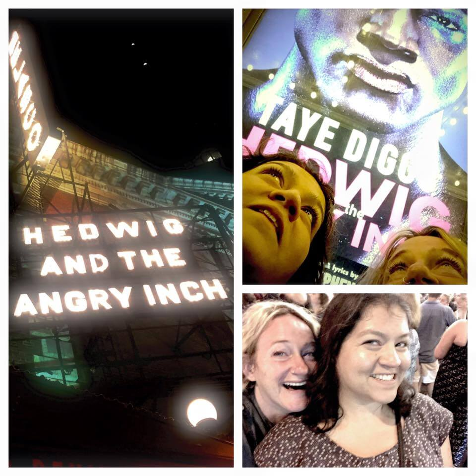 Helena took me to see Hedwig and the Angry Inch - my favorite musical - I cried like a small child