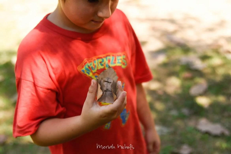 micah built a rocketship out of a leaf