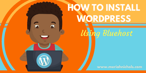 how to install wordpress on your self hosted bluehost site