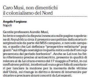 Vittime meridionali - la risposta di Angelo Forgione a Aurelio Musi