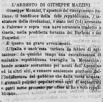 petizione memoria - Arresto_Mazzini_1870