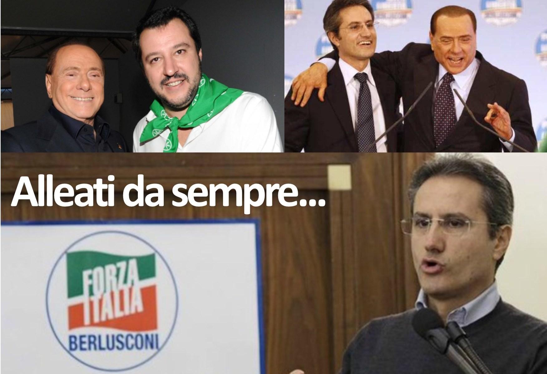 Caldoro-Berlusconi-Salvini