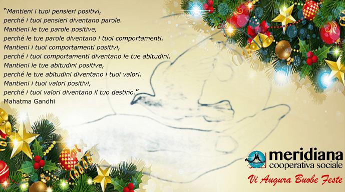 Pensieri Auguri Di Natale.Buone Feste Da Meridiana Cooperativa Sociale Meridiana