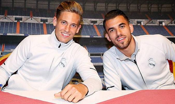 Dani Ceballos y Marcos Llorente / Foto: Real Madrid