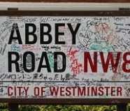 Placa de la calle de Abbey Road, Londres