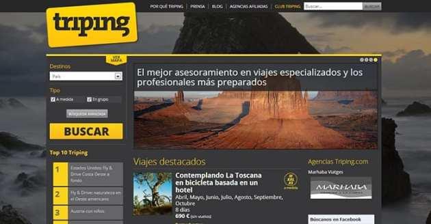 triping, buscador de viajes especializados