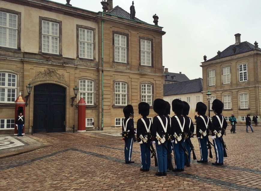 Copenhague, cambio de guardia