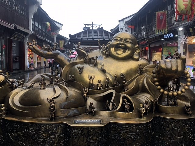 Buda sonriente de Hefang Jie