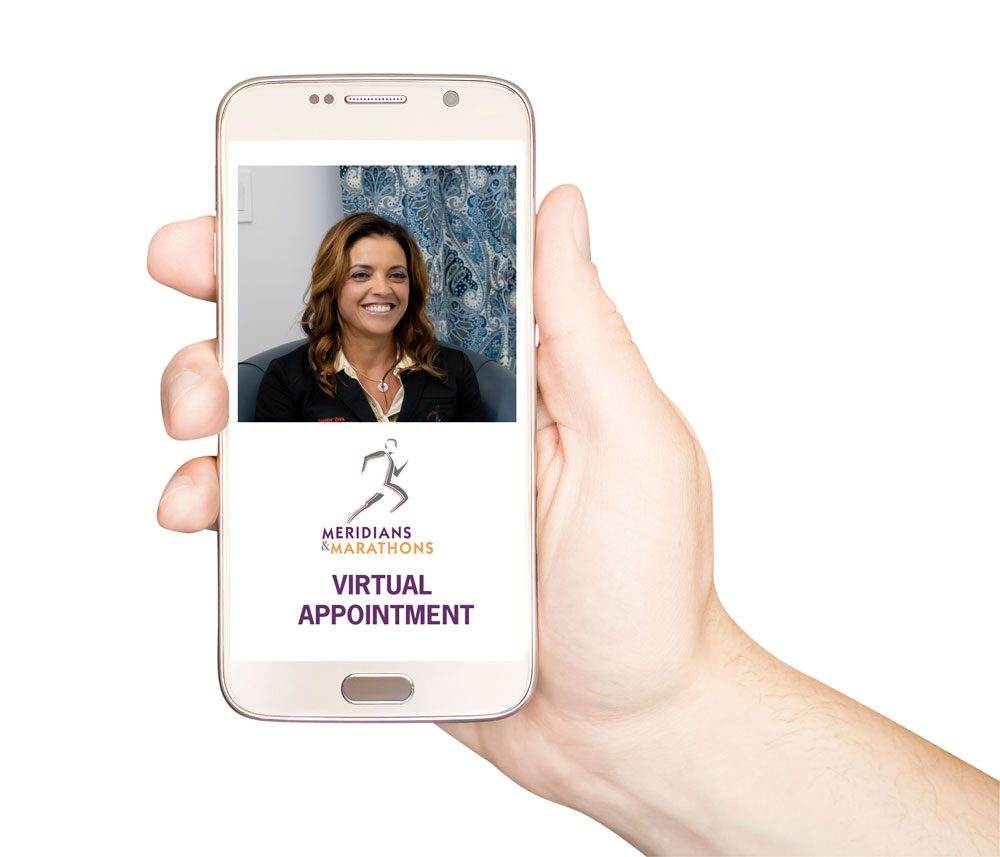 Sandy Ziya at Meridians & Marathons offers telemedicine virtual appointments