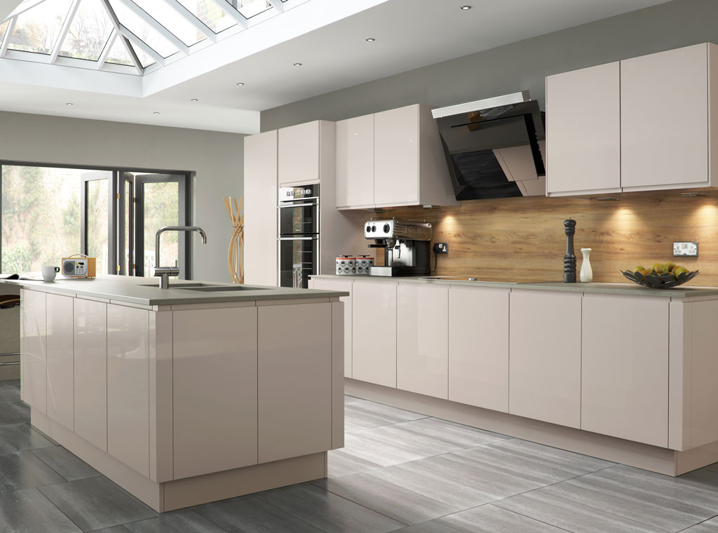 The Milbourne SN Collection door can be adapted to suit and environment using the on trend Partridge Grey in a contemporary kitchen setting or a Stone for a modern country aesthetic.