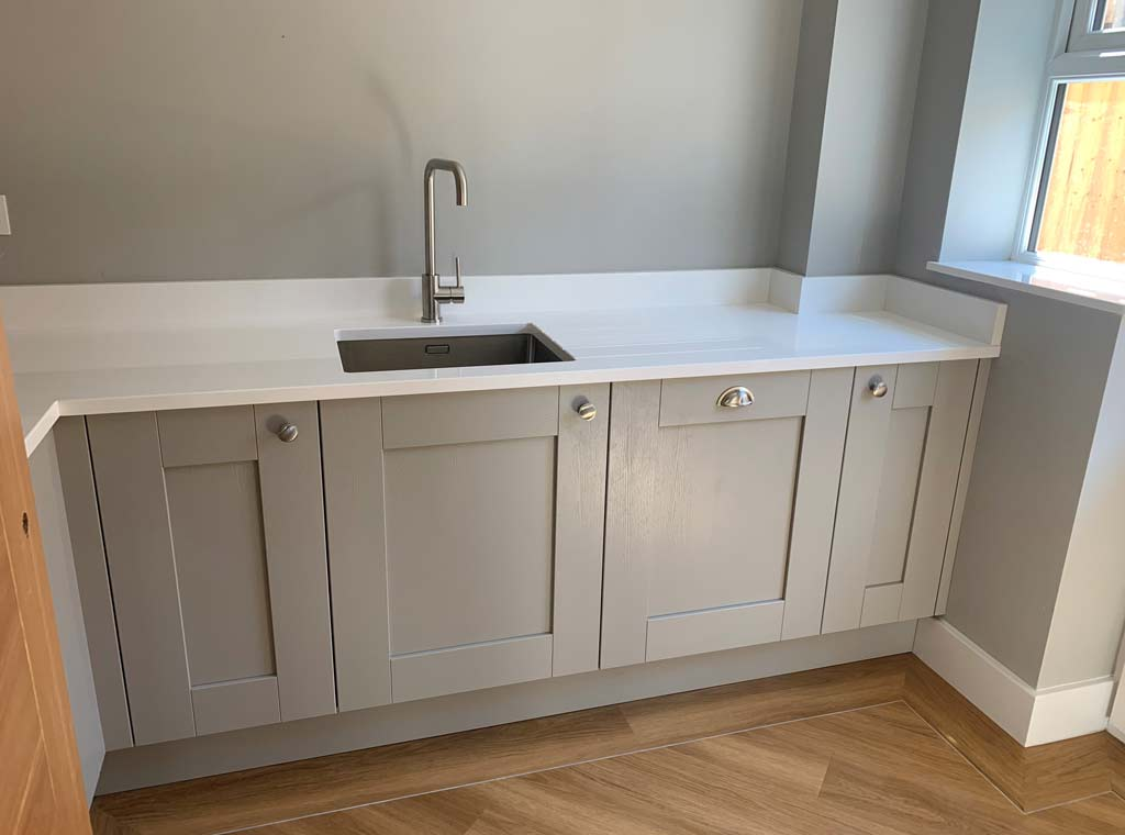 utility room new build fitted kitchen ringwood