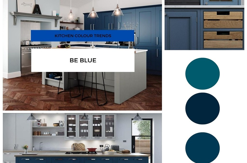 blue kitchen - Meridien Interiors - Dorset