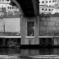 Joggare vid Blekholmsbron