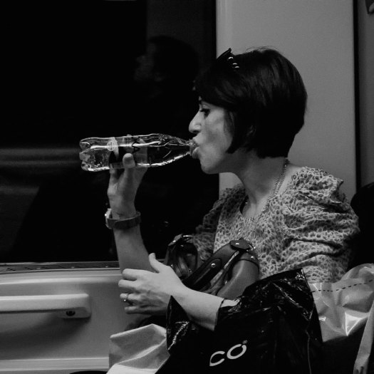 A drink on the tube