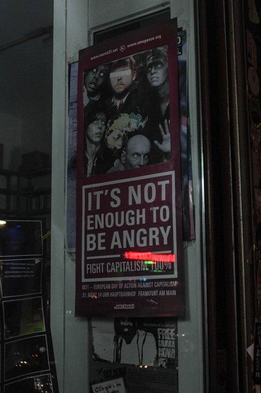 Det är inte nog att vara arg