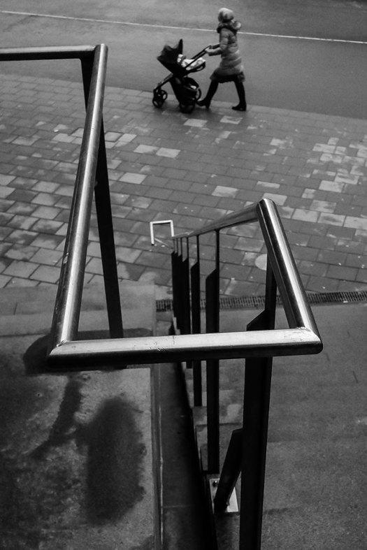 trappa-barnvagn