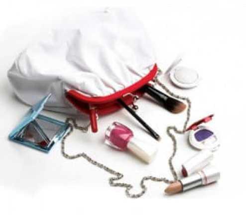 makeup in bag