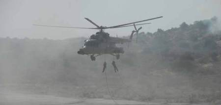 File Photo: Indian Army soldiers in a war exercise with foreign troops.