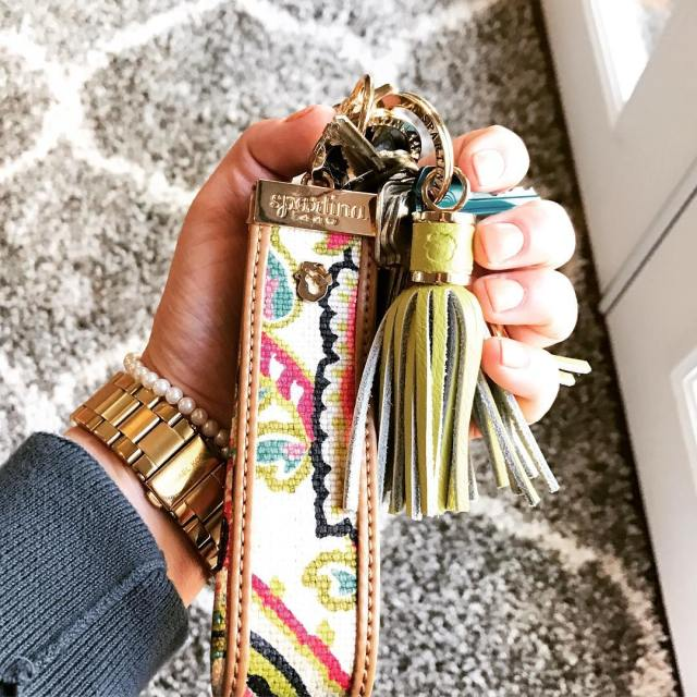 loving this spartina key wristlet and my gelmanicure