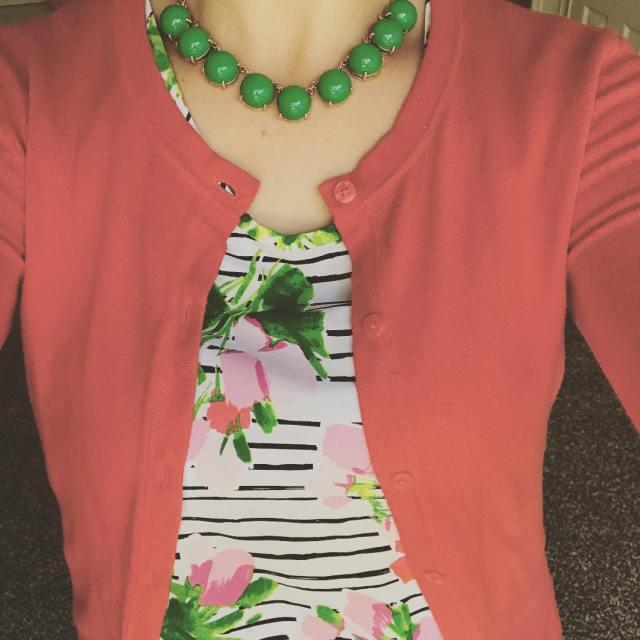 Enjoying bright colors lately springtime