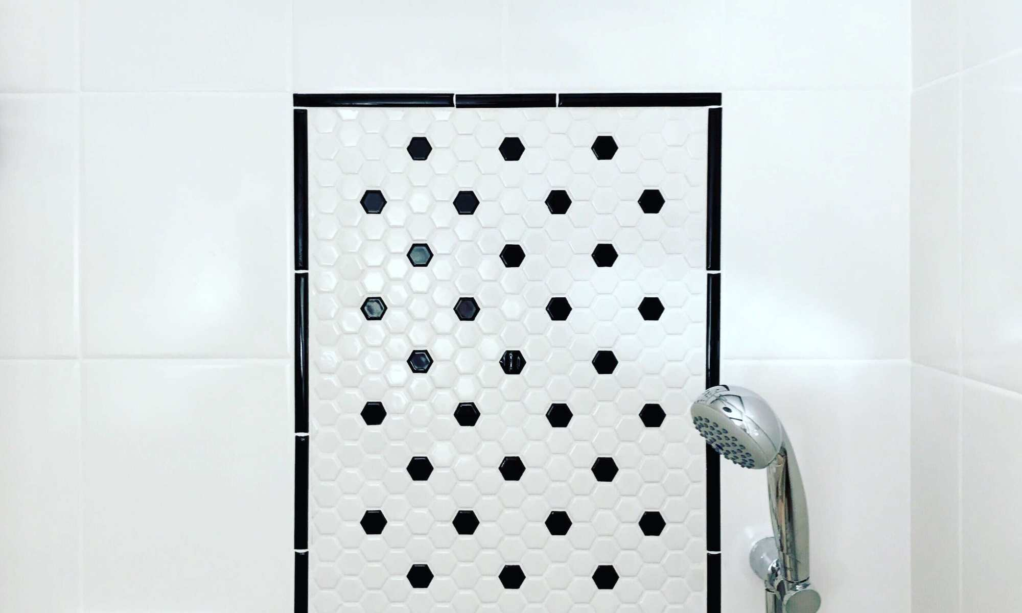 Hex Tile for a Shower Wall - Merit Construction San Diego - Merit ...