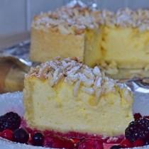 Baked Vanilla Cheese Caked