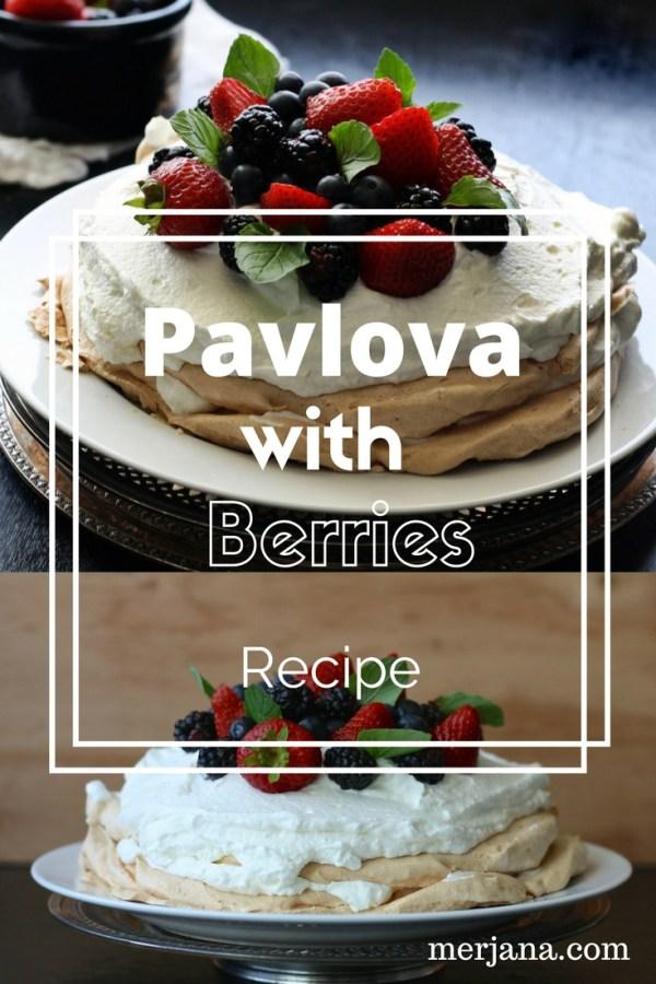 Pavlova With Berries Pinterest