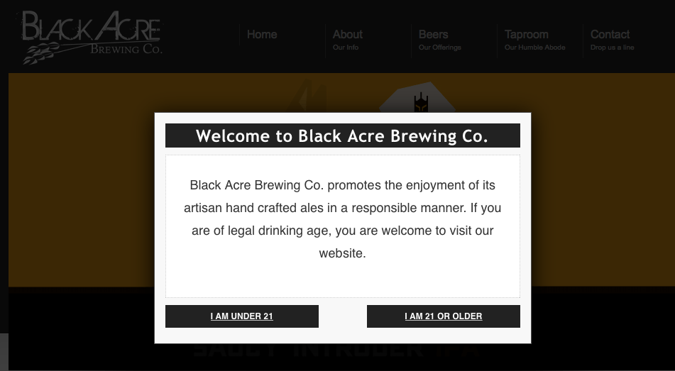 Black Acre Brewing Co. easter egg