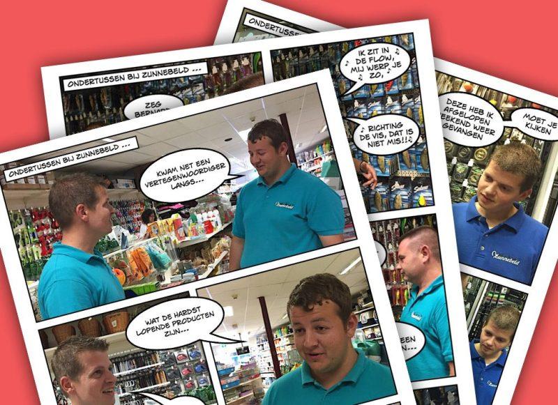 Voor Zunnebeld maakte we een hele serie humoristische strips om het personeel en bedrijf voor te stellen.