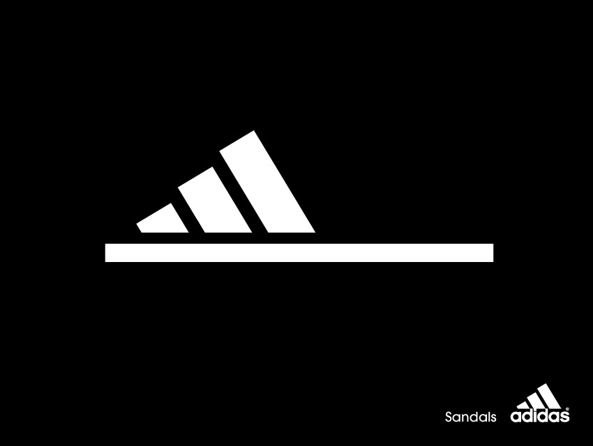 Adidas advertentie slipper