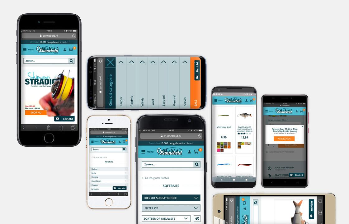 webdesign zunnebeld hengelsport webshop