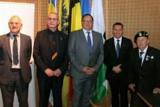 v.l.n.r. Stefaan De Groote, Dirk Verbeke, Frank Wilrycx, Artur Orzechowski, Jan Brzeski