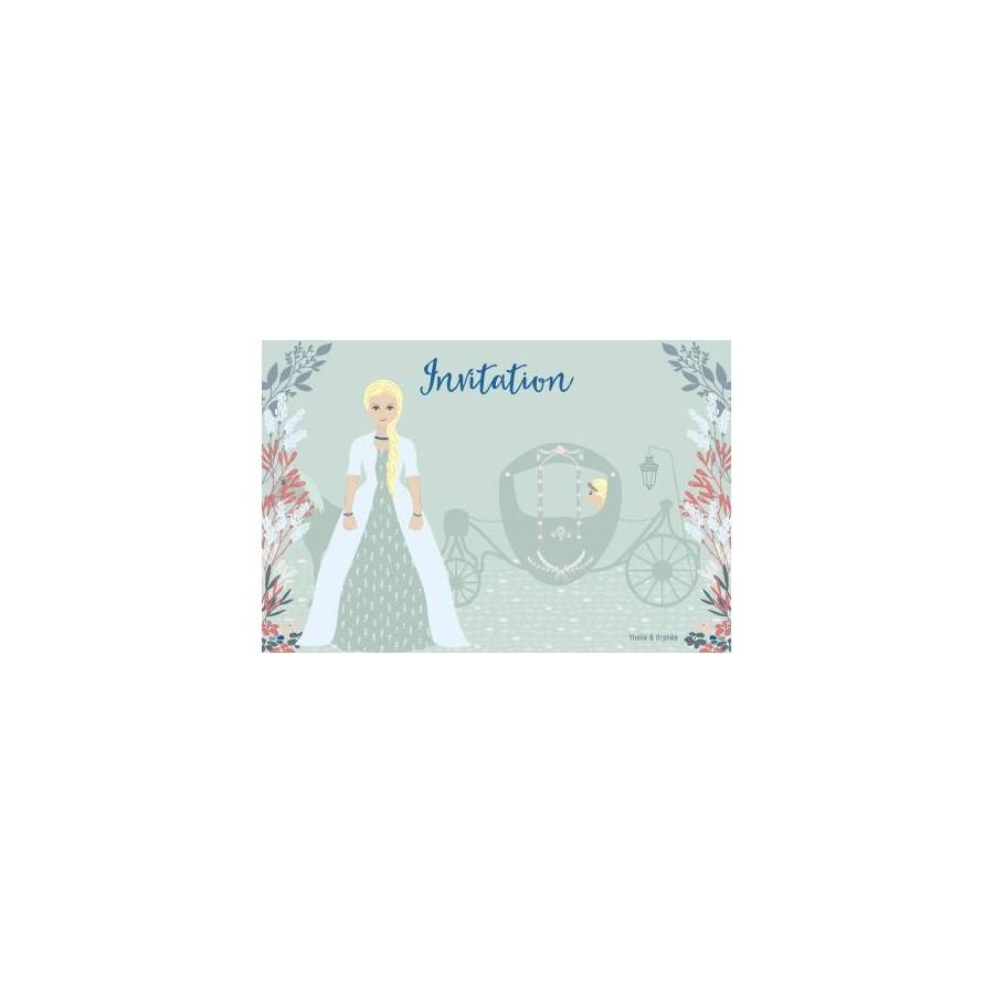 cartes invitation anniversaire princesse bleue thalie et orphee
